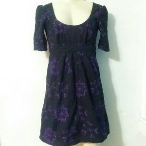 Black and Purple Floral French Connection Dress